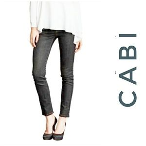 CAbi Jeans Charcoal Gray Stretch Skinny 6